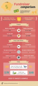 Fundraiser Comparison Infographic